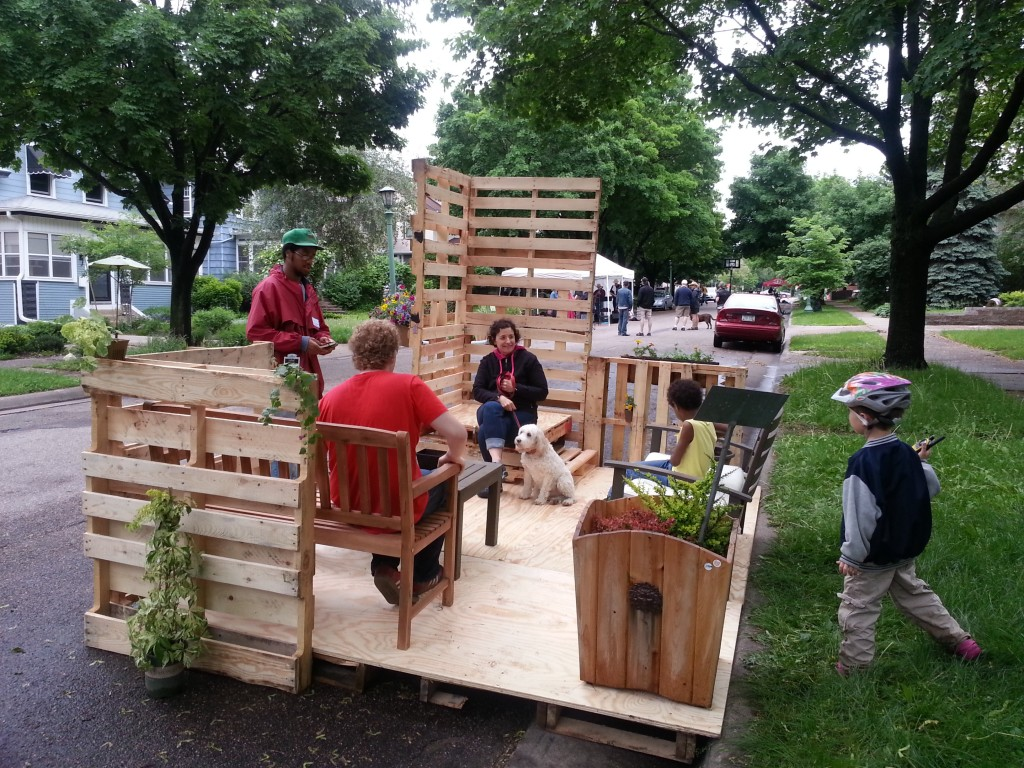 FSI's on-street parklet was an instant hit this summer.