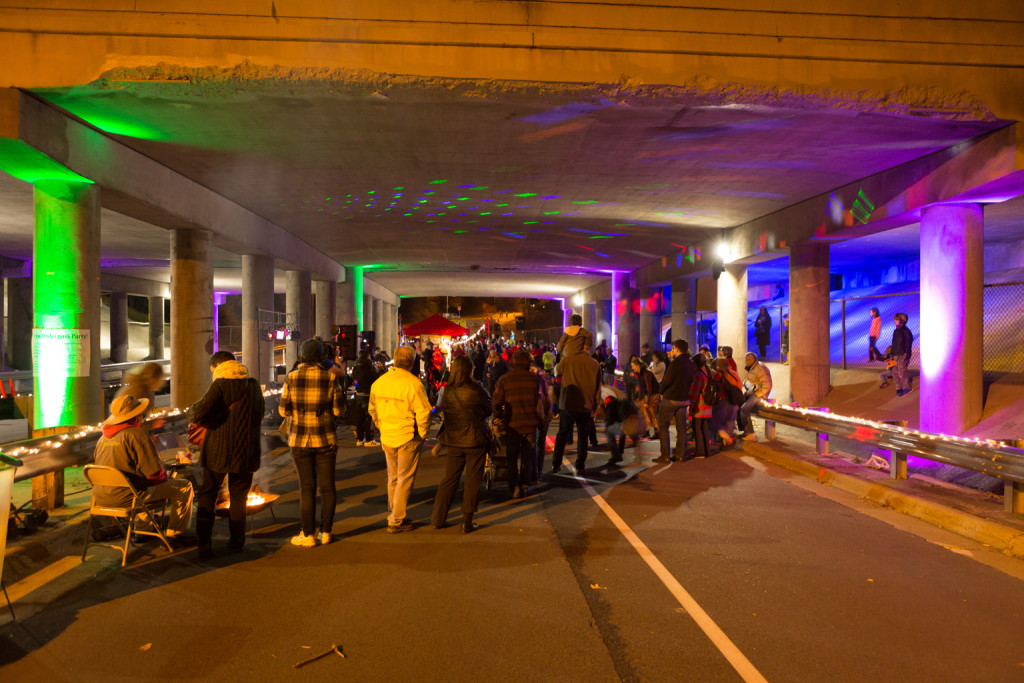 Fairview Underpass Party, October 2015 © Jon Pavlica